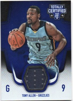2015-16 Panini Totally Certified Allen, Tony - Materials Blue