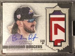 2019 Topps Topps Dynasty Autograph Patches Silver #DAPBR3 Brendan Rodgers