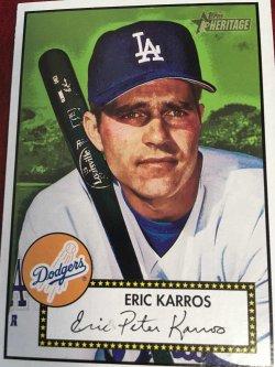 2001 Topps 1952  HERITAGE  ERIC KARROS #280 Los Angeles DODGER  AllStar 1B