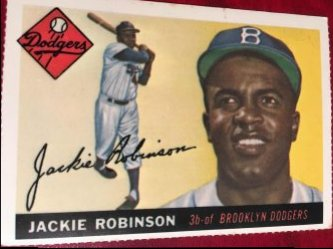 1955 Topps REPRINT  JACKIE ROBINSON #50 Brooklyn Dodger HOF 3rd OF