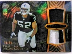 2014 Bowman Sterlling Khalil Mack Rookie Dual Relic Gold Refractor