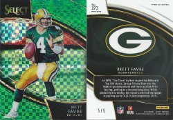 2018  Select Prizm Green #273 Brett Favre