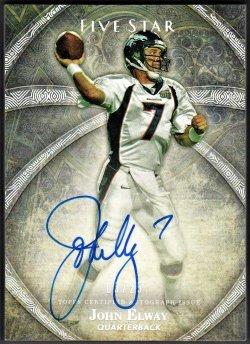 2014   John Elway Topps Five Star Platinum Parallel Auto /25