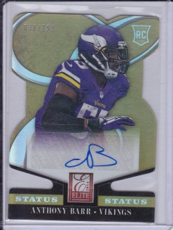 Anthony Barr 2014 Elite Status Gold Autograph /199