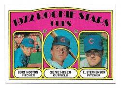 1972 Topps Topps Burt Hooton, Gene Hisler, and Earl Stephenson