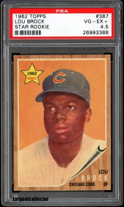 1962 Topps Star Rookie Lou Brock
