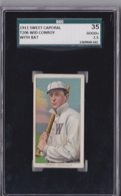 1909  T206 Sweet Caporal 42 OP Wid Conroy With Bat