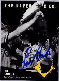 1994 Upper Deck All-Time Heroes Lou Brock IP Auto