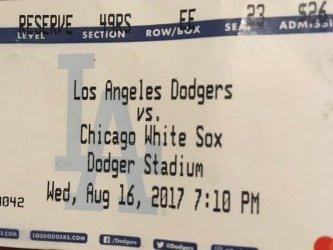 2017  Dodger Stadium 8/16/17 Los Angeles Dodgers vs WhiteSoX 5-4 PUIG WalkOff Win