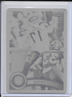 2011 Topps Chrome Black Printing Plate - Philip Rivers