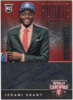 2014-15 Panini Totally Certified Grant, Jerami - Rookie Roll Call Autographs