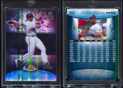 1999   Finest Team Finest Blue Refractor Frank Thomas