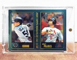 2001 Topps Chrome Ichiro Suzuki & Albert Pujols ROY