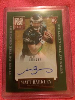 2013 Panini Elite Matt Barkley Turn of the Century