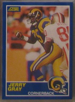 1989 Score  #25 - Jerry Gray