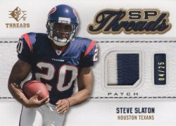 Steve Slaton 2009 Upper Deck SP Threads Patch 04 of 25