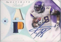 2008  Ultimate Collection Adrian Peterson Dual Patch Auto