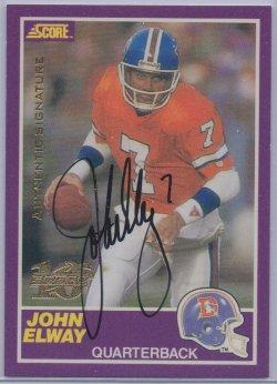 1999  Score 10th Anniversary Reprints Autographs John Elway