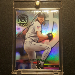 1998 Donruss Collections Preferred Prized Refractor Randy Johnson