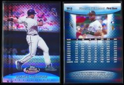 1999  Topps FInst Team Finest Blue Refractor (No Serial #) Frank Thomas