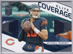 2019 Donruss Elite Mitchell Trubisky Elite Coverage