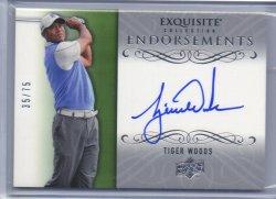 2014 Upper Deck Exquisite Tiger Woods Endorsements Autograph