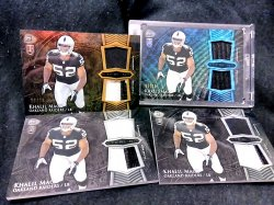 2014 Bowman Sterling Khalil Mack Rookie Dual Relics Blue Wave/Gold/Base Parallels