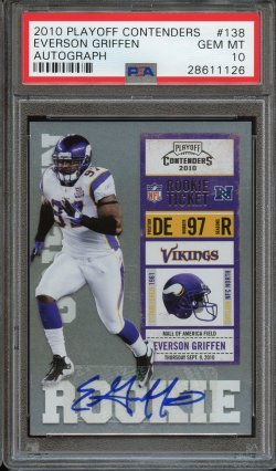 Playoff Contenders Rookie Ticket Auto Everson Griffen