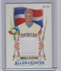 2017 Topps allen and ginter cano wbc jersey