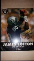 James Lofton 8x10 Photo IP Autograph