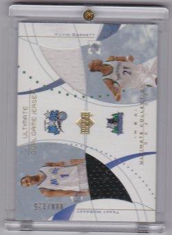 2002-2003 Upper Deck Ultimate Dual Jerseys Tracy McGrady / Kevin Garnett