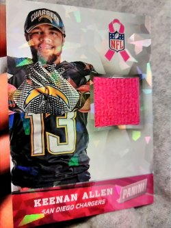 2014 Panini Black Friday Keenan Allen ToTT Breast Cancer Awareness Cracked Ice Parallel