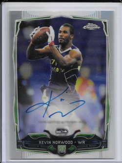 2014 Topps Chrome Refractor Rookie Autograph - Kevin Norwood