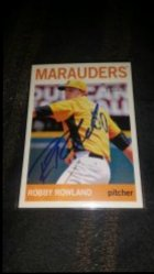 2013 Topps Heritage Minors Robby Rowland IP Auto