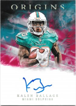 2018 Panini Origins Rookie Signatures Red Kalen Ballage