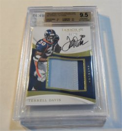 2017 Panini Immaculate Collection Terrell Davis premium patch autograph