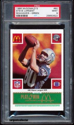 1986  McDonalds Steve Largent