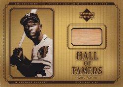 2001 Upper Deck Hall of Famers Game Bat Hank Aaron