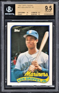 1989   Ken Griffey Jr. Topps Traded RC BGS 9.5