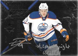 2014-15 Upper Deck Ultimate Collection Obsidian Script Leon Draisaitl