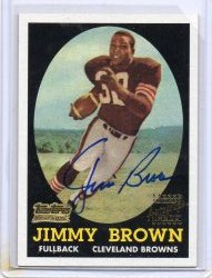 2001 Topps Archives Jim Brown Rookie Reprint Auto