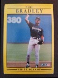 1991 Fleer  Phil Brady- White Sox OF