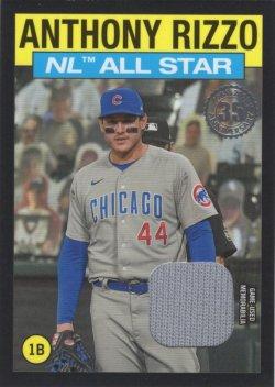 Anthony Rizzo 2021 Topps 1986 Topps All-Stars Baseball 35th Anniversary Relics Black