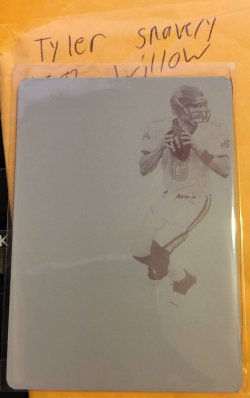 2017 Panini Immaculate Printing Plate Brunell
