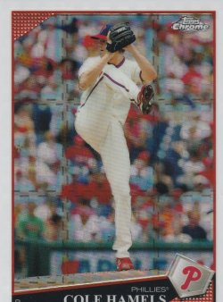 2009 Topps Chrome Xfractor Cole Hamels