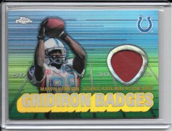 2003 Topps Chrome Gridiron Badges Jersey - Marvin Harrison