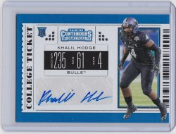 2019 Khalil Hodge Panini Contenders College Ticket Auto RC   Buffalo A8885