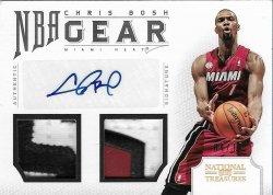 2012-13 Panini  National Treasures NBA Gear Dual Prime Signatures Chris Bosh #ed 4/10