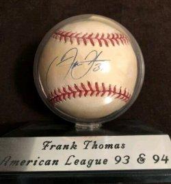 Frank Thomas signed baseball