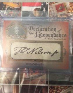 2016 Upper Deck Goodwin Declaration of Independance Replica Signatures Thomas Nelson Jr.